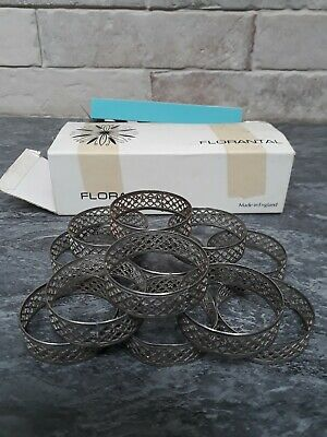 Florantal Silver Plated Napkin Rings 2 Sets Of 6