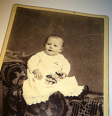 Antique Victorian Child, Lovely Small Toy Doll! San Francisco, CA Cabinet Photo!