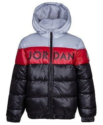 0f00c0da978f NIKE AIR Jordan Puffer Jacket Jumpman Kids Boys Youth Coat Hoodie ...