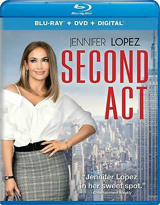 Second Act  (Blu-ray 2019) NEVER WATCHED BLU-RAY DISC ONLY W/ CASE + SLIPCOVER
