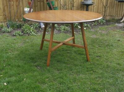Retro Ercol Elm Drop Leaf Dining Table Golden Dawn 60'S Vintage