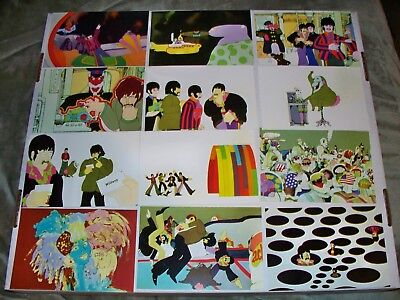 1999 Comic Images The Beatles Yellow Submarine Complete 72 card set 4x6 size