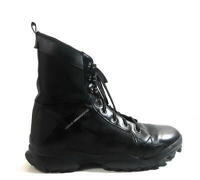 new product 34fb3 4bed0 Adidas Y-3 Yohji Yamamoto 63561 Men High-Top Sneakers Black Lace Up Boots