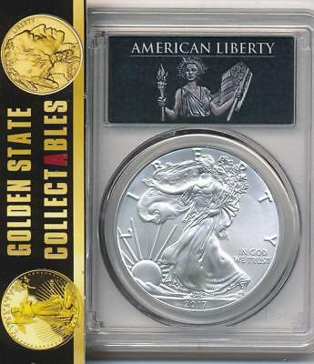 2017 $1 Silver Eagle Pcgs Ms70 First Strike American Liberty 225Th Anniversary