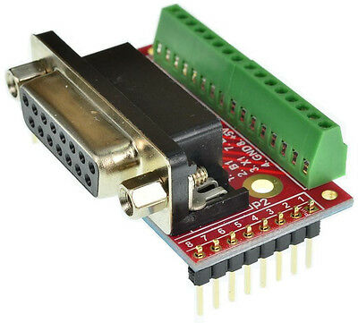 DB15HD VGA Male Breakout Board D-Sub 15 eLabGuy D15HD-M-BO-V1A Male adapter