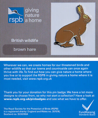 RSPB Pin Badge | brown hare GNAH (00861)