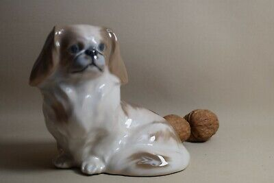 Pekinese gross 12cm 1772  Royal Copenhagen Hund animal figurine dog chien
