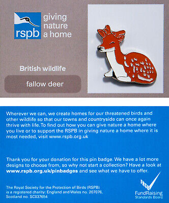 RSPB Pin Badge | fallow deer GNAH (00180)