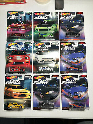 2019 Hot Wheels Fast And Furious B Jetta Set of 9 with extra Silvia and Skyline