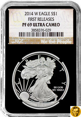 2014 W American Eagle Proof 1$ Coin 99.9% Silver - NGC PF69 Ultra Cameo