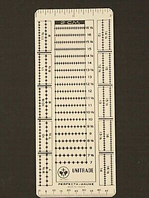 """Stamp Perforation Gauge By Unitrade """"Perfecta Gauge""""   **We Support Our Vets***"""