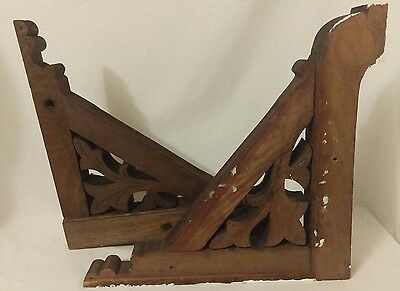 ANTIQUE Vintage WOOD Corbels ARCHITECTURAL SALVAGE 2 set