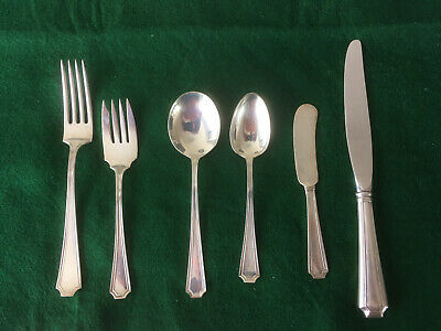 Vintage Gorham FAIRFAX Sterling Silver - 6 Piece Place Setting - No Monos