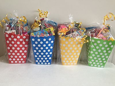 Pre Filled Party Bags Boxes, Unisex Kids Birthday Favours, Loot Bags Vegetarian