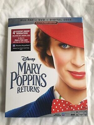 MARY POPPINS RETURNS Blu-ray + DVD (Digital Copt Not Included) New