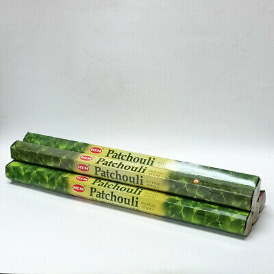 """Hem Patchouli Incense Jumbo Size 16"""" Inch 50 Sticks = 5 Packs of 10 in Each"""