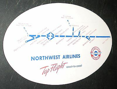 Northwest Airlines Paper Ink Blotter (circa late 1940s)