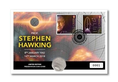 Stephen Hawking 50p First Day Cover, Pre Order. ~SOLD OUT~