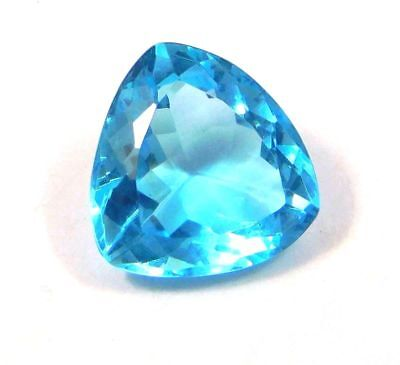 STRIKING Natural Treated Faceted Aquamarine loose A++ Gemstones 18 CT 15x15 mm