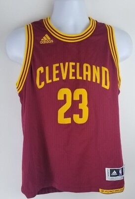 official photos 93f52 6ac58 ADIDAS LEBRON JAMES Wine Red Cleveland Cavs Cavaliers Jersey Youth Large  boys