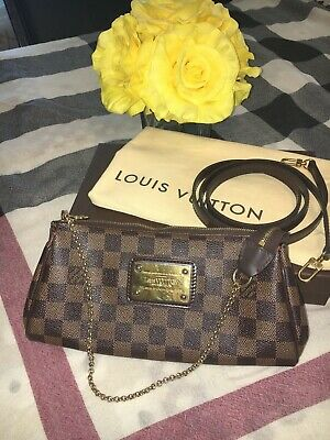 abe014f39340 Authentic Louis Vuitton Eva Clutch Damier Ebene made in France US Seller