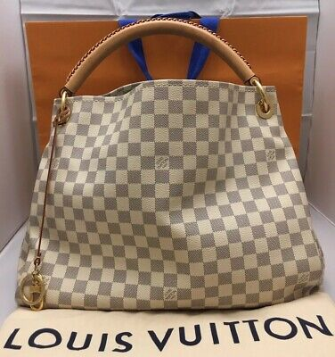 e821f4635a66 Authentic Louis Vuitton Artsy MM Damier Azur Purse SD2137+Dust Bag+Shopping  Bag
