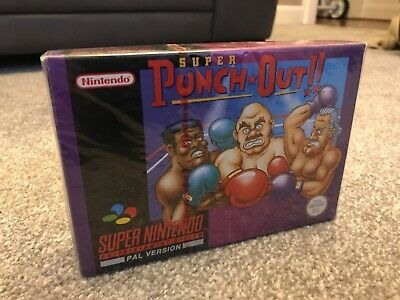 Super Punch Out Super Nintendo SNES Sealed New Red Strip Really Mint Uk Pal