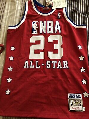 a6c782bd3e21 Chicago Bulls Michael Jordan Mitchell   Ness All Star 88-89 Authentic Jersey  48