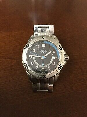 Wenger Swiss Military Zurich GMT Sport Dual Time Black Dial Watch for Men 79269
