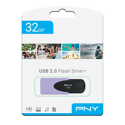 PNY Pastel 32gb USB 2 2.0 Flash Drive Memory Stick Pen Storage Backup Drive