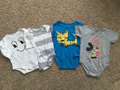 K* Boys Mixed Lot Bodysuits 6 M 12 M Long Sleeve Short Sleeve