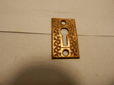 Antique Door Lock Key Hole Escutcheon Brass Eastlake  (KH 18)