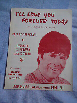 +Cliff Richard  Partition Musicale  Belge I'll Love You Forever Today