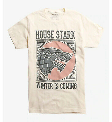 Game Of Thrones STARK DIREWOLF LOGO T-Shirt NWT Licensed & Official 3XL