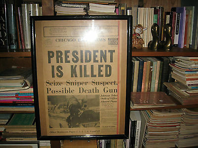 1963 Kennedy Killed Chicago Daily News 1963 Framed Nice One