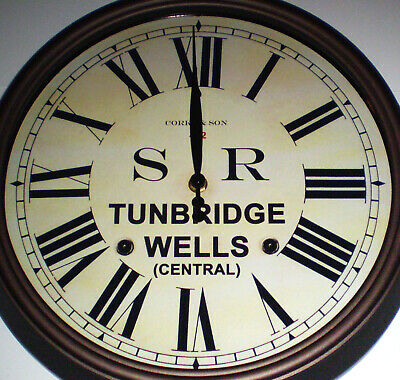 Southern Railway SR Historic Style Station Clock, Tunbridge Wells Station