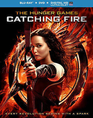 The Hunger Games: Catching Fire (Blu-ray Disc, 2014, 2-Disc Set, Includes Digita