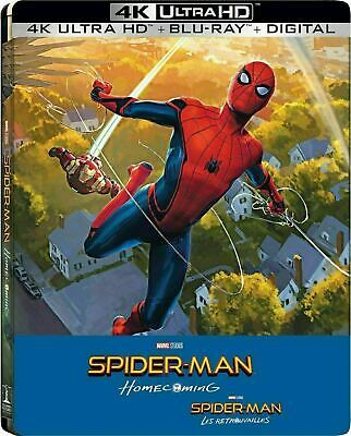 Spider-Man: Homecoming 4K - Exclusive Steelbook  [4K Ultra HD + Blu-ray] New!!!