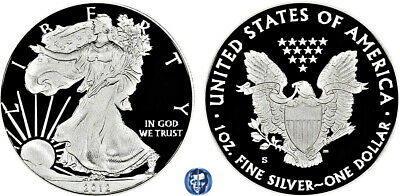 2012 S American Eagle Proof 1$ Coin 99.9% Silver - Ultra Cameo - See Descript