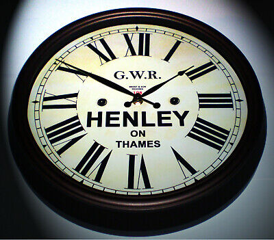 Great Western Railway GWR Victorian Style Clock, Henley-on-Thames Station