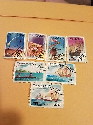Collectible Stamps Set Of 7 1992 Tanzania Mixed Values