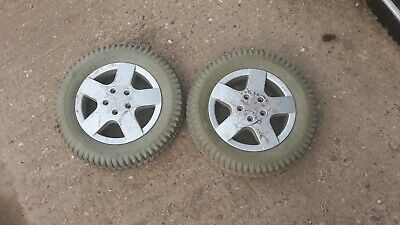 Invacare storm 4 powerchair   Pair of rear wheels tyres 3.00 - 8