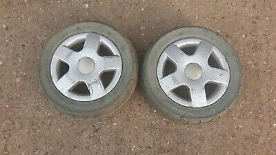 Invacare storm 4 powerchair   Pair of front wheels tyres 3.00 - 6