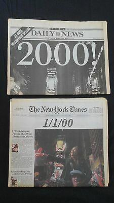 New Years Eve 2000 Times Square Souvenirs & January 1, 2000 NY Times Daily News