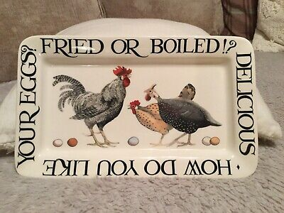 Emma Bridgewater Hen And Toast Rise And Shine Oblong Plate