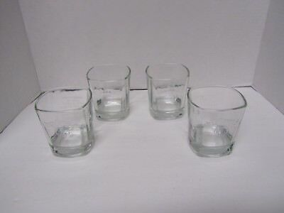 FOUR ( 4 ) New Jack Daniels Old No.7 Whiskey Glass Embossed ...