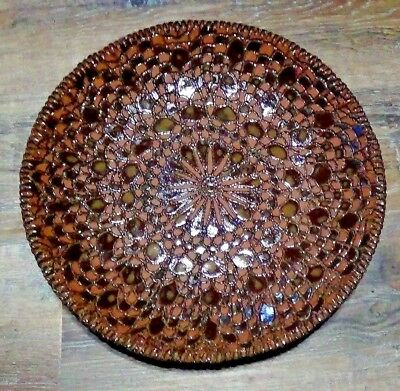 Vintage Mcm Emerson Signed Studio Pottery Round Plate/Bowl