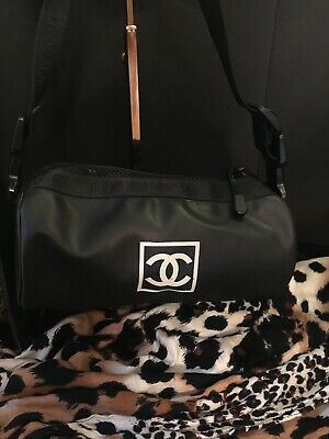d495ecc085a AUTHENTIC CHANEL SPORT Line CC Logos 3way Bum Bag Gray White Nylon ...