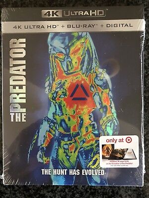 The Predator 4K + Blu Ray + Digital + Limited Edition Collectible Book Brand New