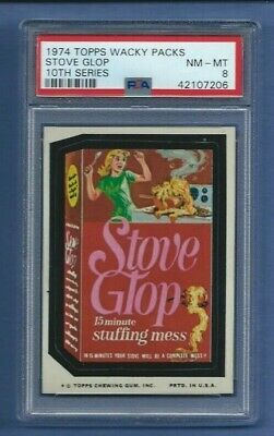 Wacky Packages Series 10 Stove Glop Psa 8 Nmmt Sharp!
